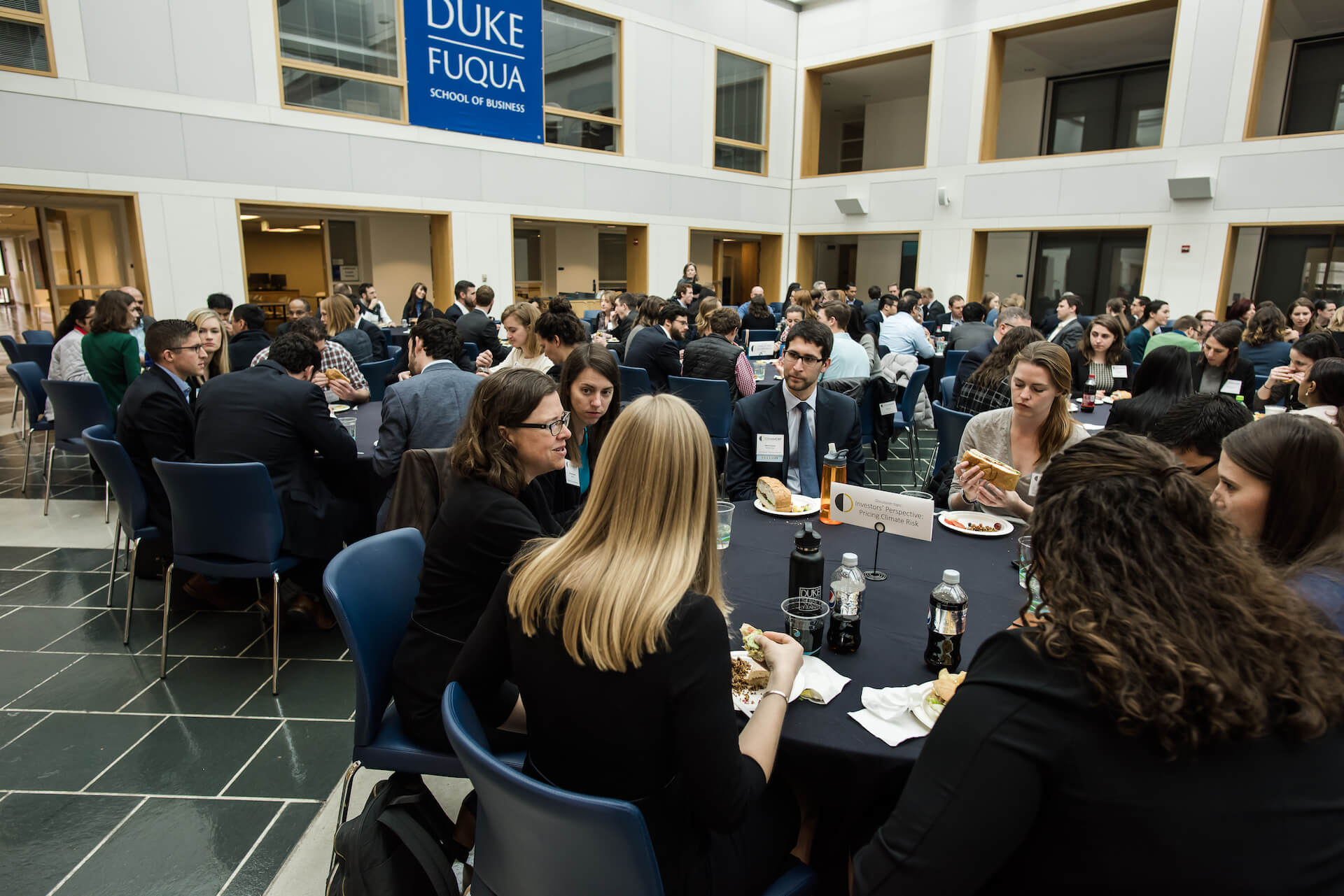 Climate Cap lunch in Fuqua's Fox Center
