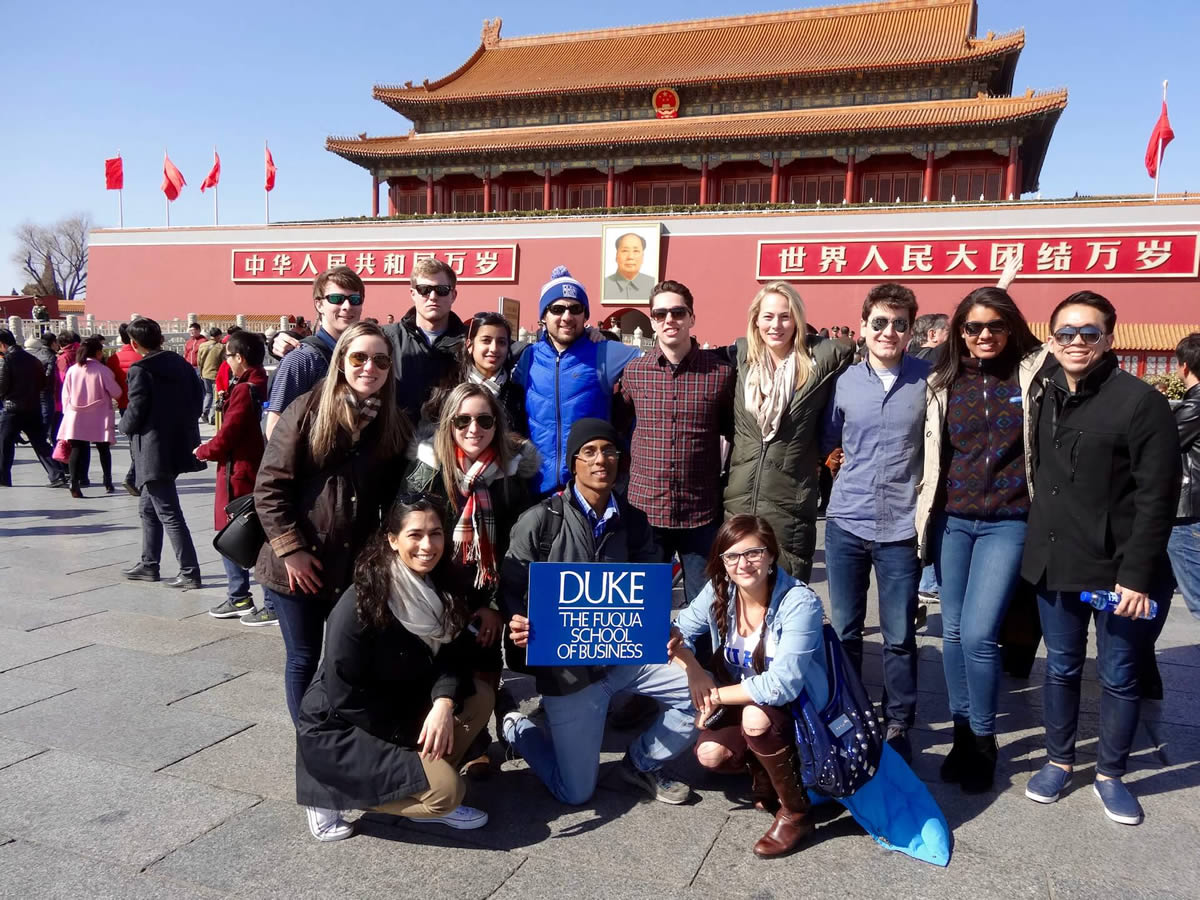Fuqua students in China