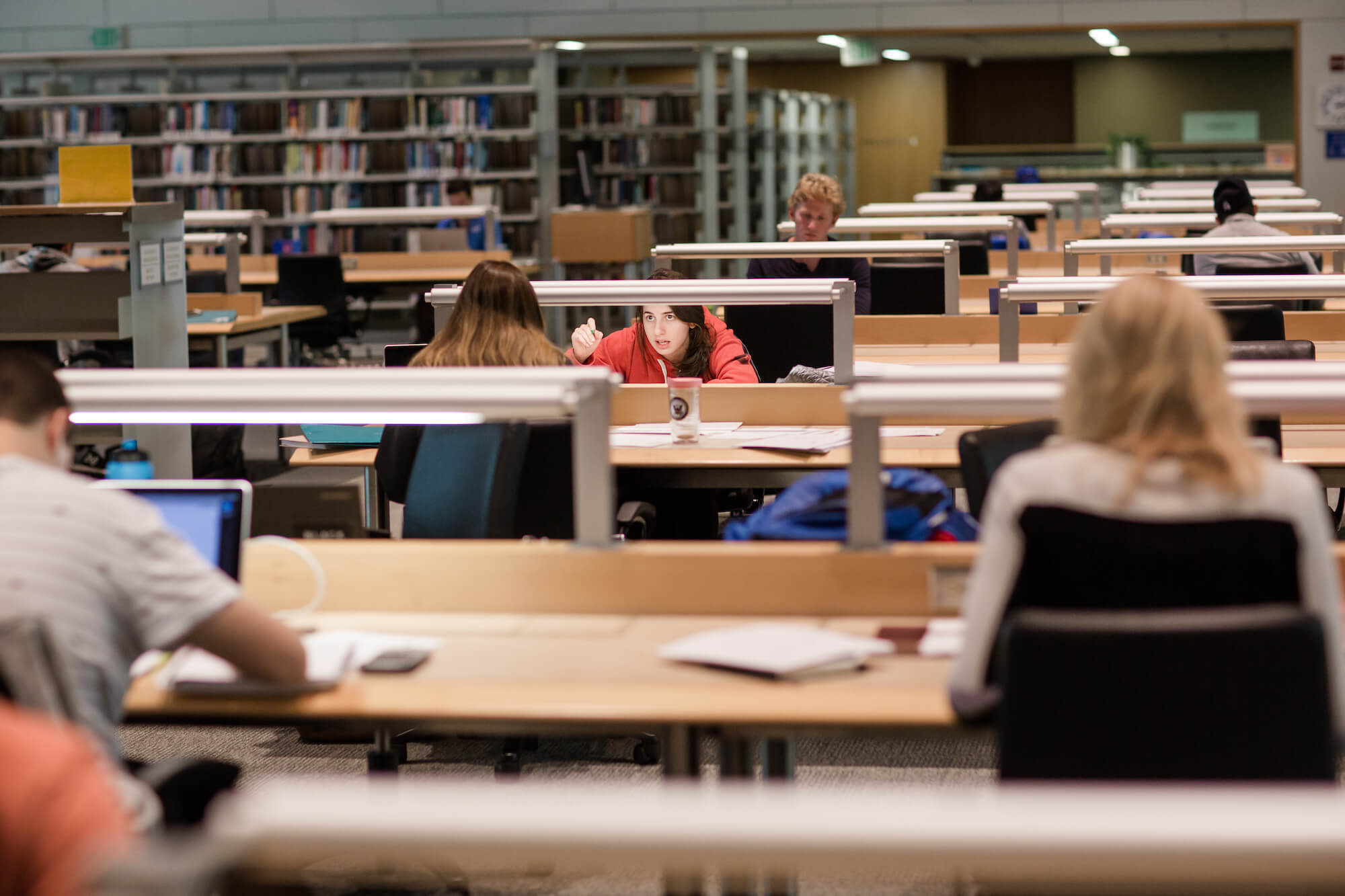 Fuqua Students Studying in Ford Library