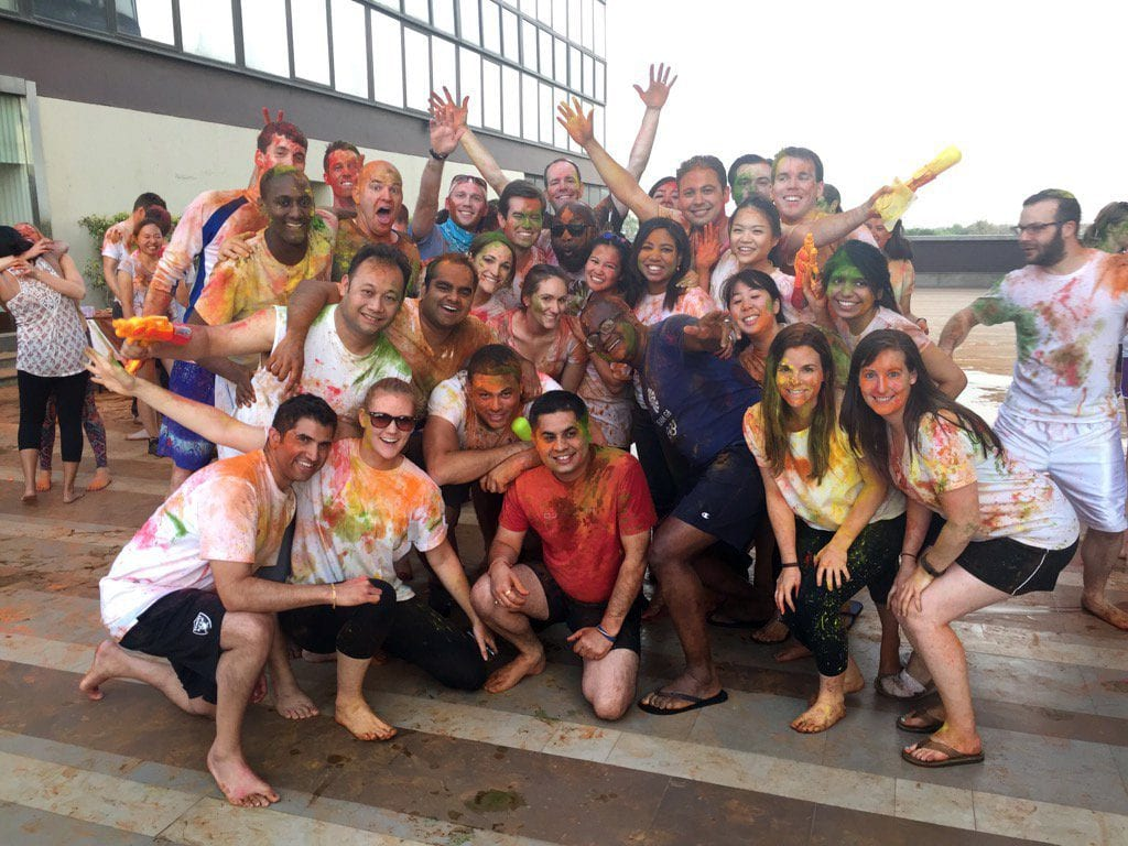 Global Executive MBA students celebrate Holi in New Delhi