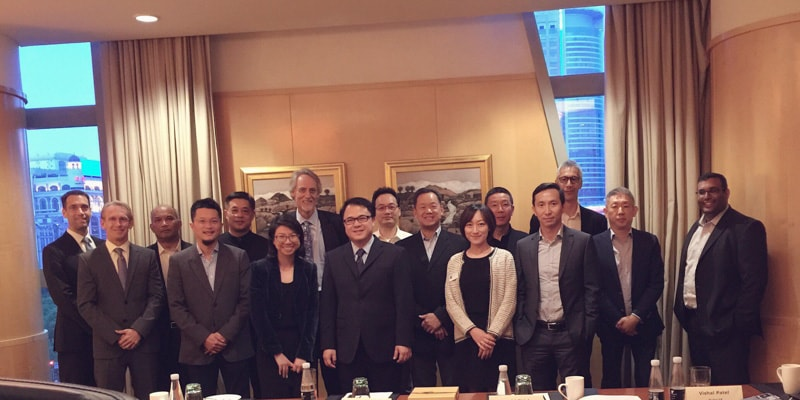 Executives meeting in Shanghai