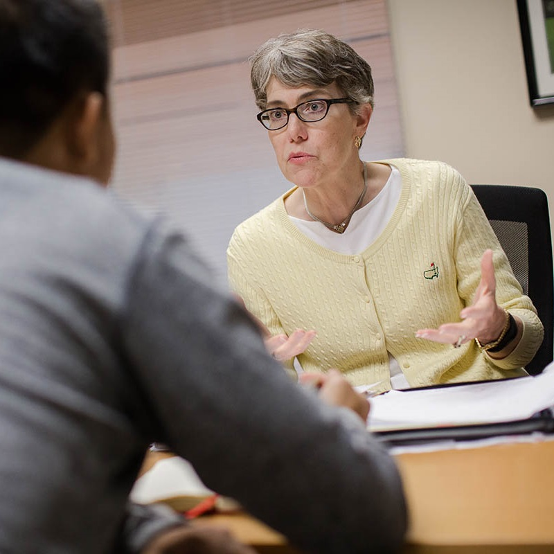 Mary Beck White-Sutton works in Fuqua's Career Management Center