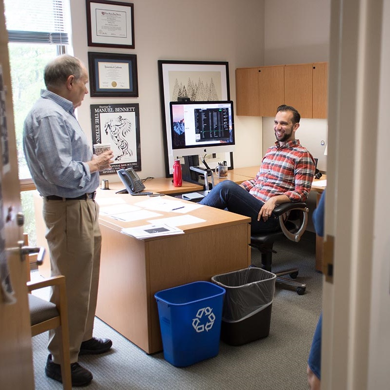 Professors Wes Cohen and Victor Bennett discuss research