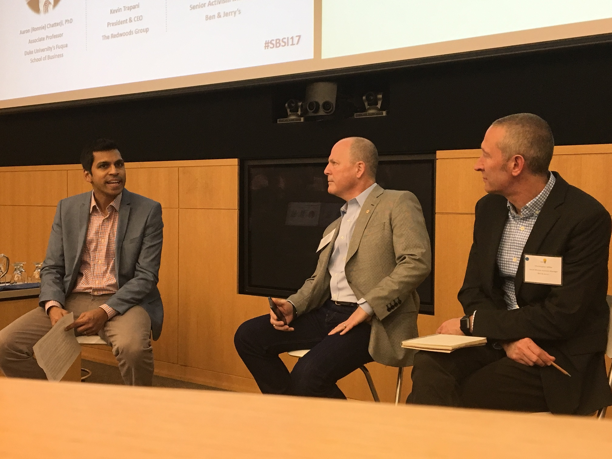Professor Aaron Chatterji talks CEO activism with Kevin Trapani of the Redwoods Group and Christopher Miller of Ben & Jerry's
