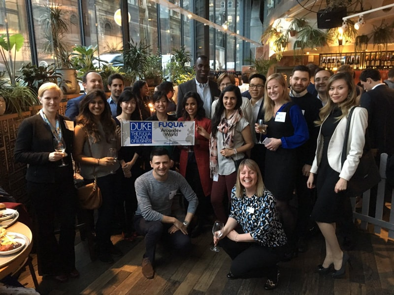 Alumni at Fuqua Around the World in London