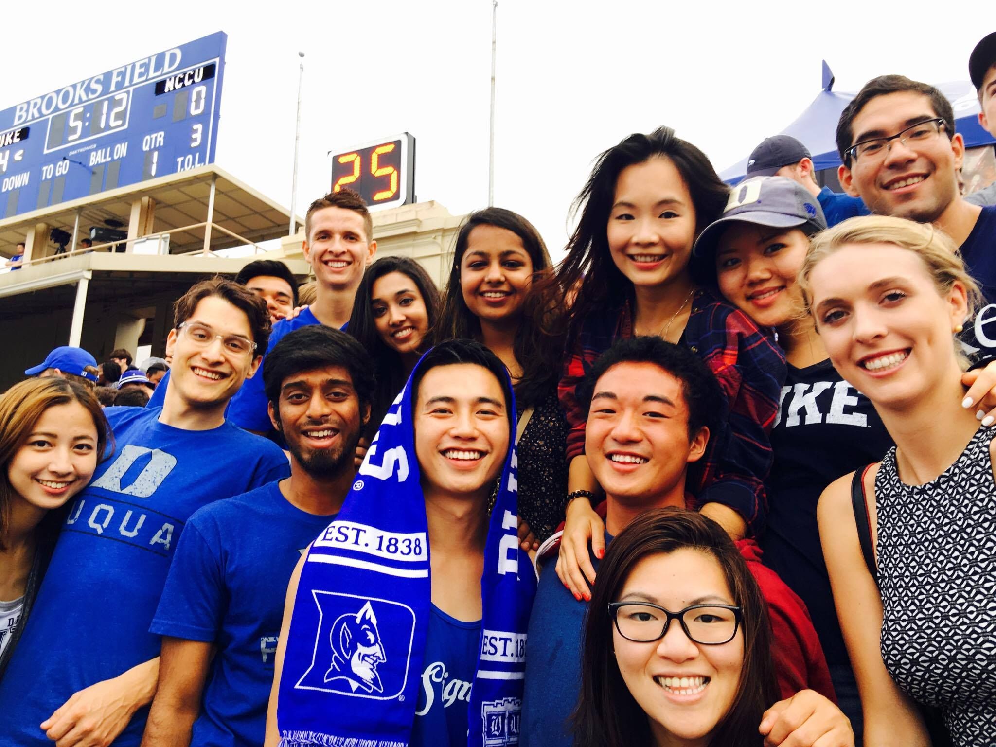 MMS FOB students taking in a Duke football game