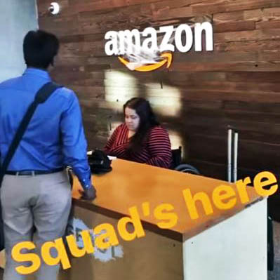 Fuqua students checking in at Amazon's headquarters in Seattle