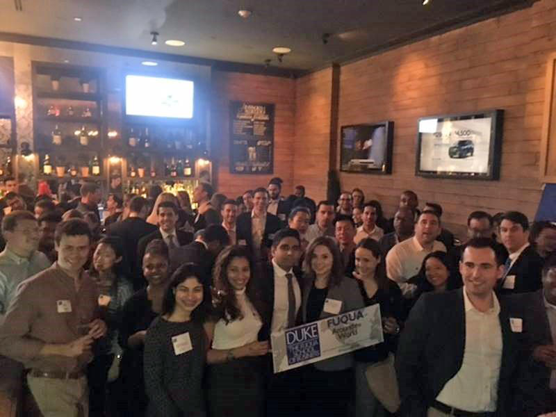 Alumni and students gathered at Fuqua Around the World