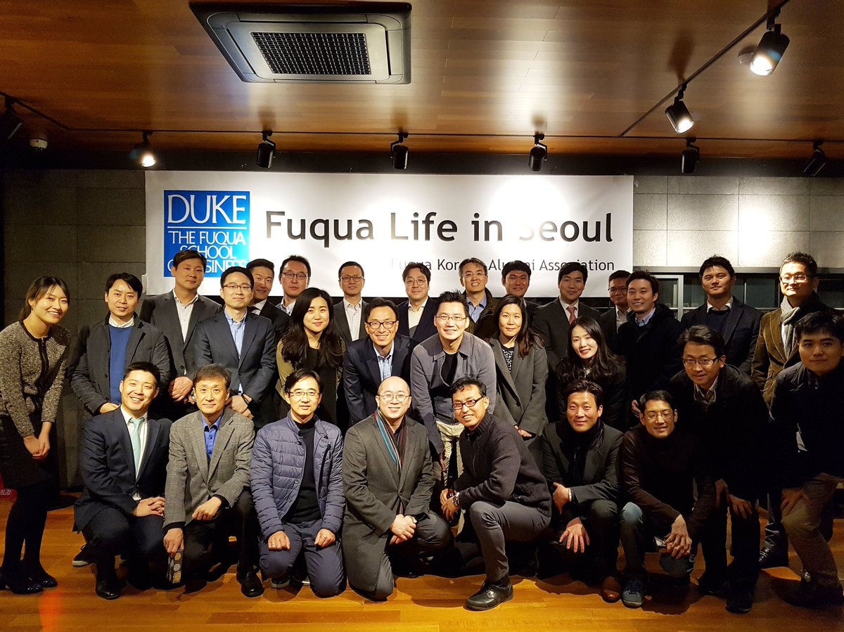 Fuqua's South Korean Alumni Association at Fuqua Around the World