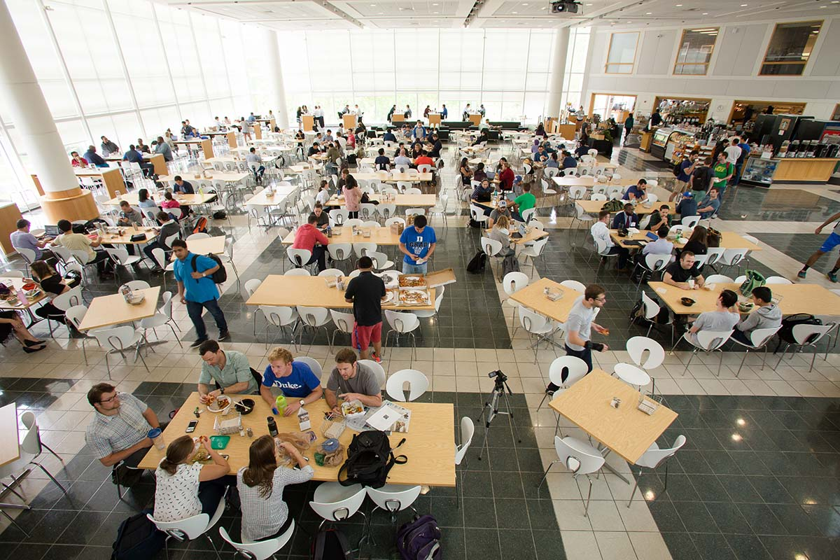 Fuqua's Fox Center Dining viewed from above