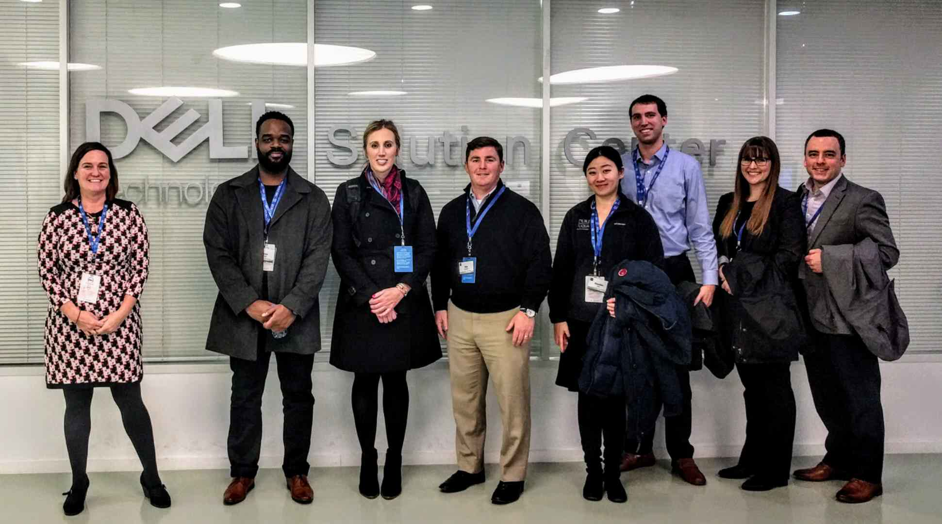 Students at a corporate visit to DELL